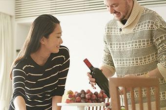 自宅で晩酌ワイン 恋人や夫婦・家族で分かち合う
